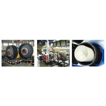 復合塑料管材擠出生產線 - KR系列鋼絲纏繞網