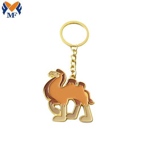 定做动物骆驼上色金属钥匙扣