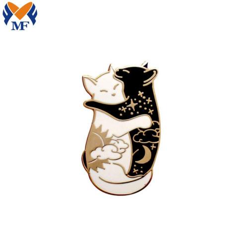 定制可爱假珐琅猫咪翻领装饰金属徽章