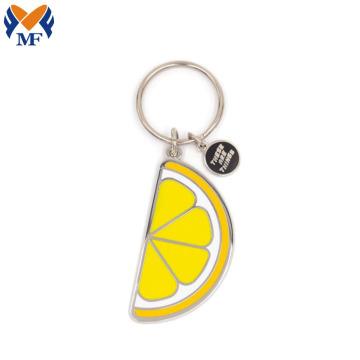 定制时尚柠檬挂件假珐琅金属钥匙扣